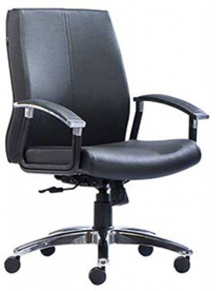 HOF Premium Leather Medium Back Chair - VIVO - 512M,HOF, Premium, Chairs ,Revolving Chairs ,Pushback Chairs