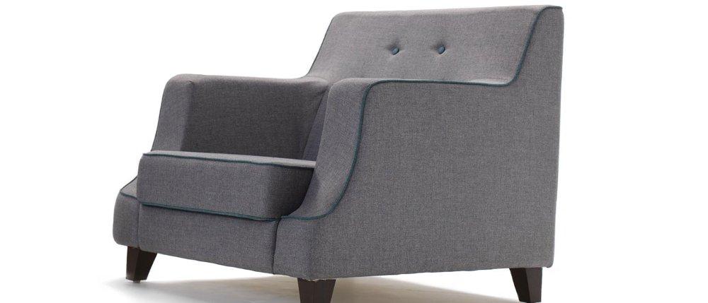 HOF Premium Fabric Sofa - RENZO - 1 Seater,HOF, Renzo, Sofas-Couches