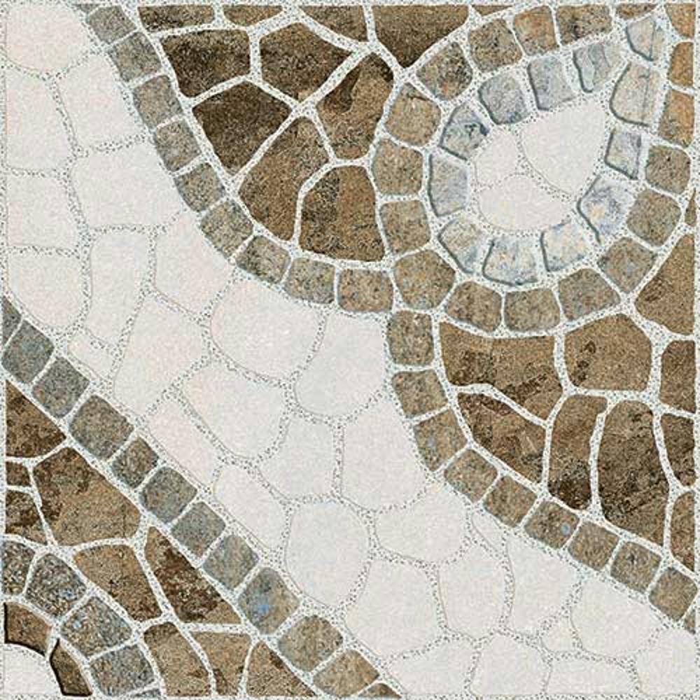 Tesco Beige,Rokedge, Cobble Stone, Tiles ,Vitrified Tiles Glazed Vitrified Tiles