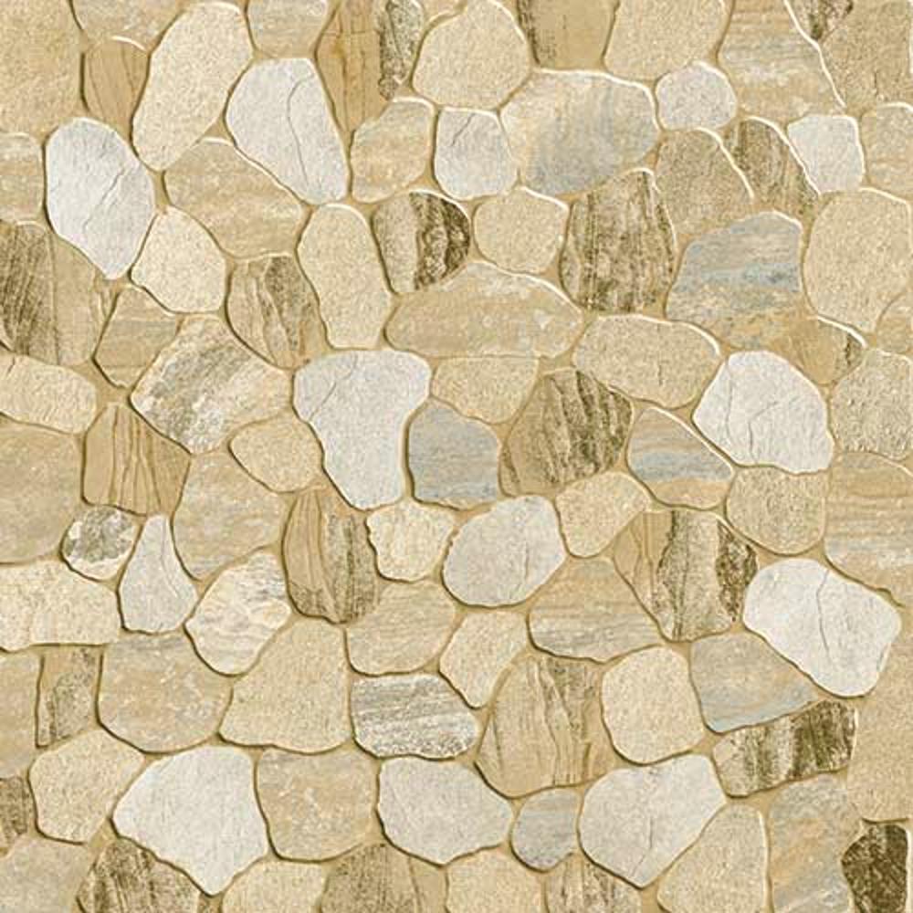 Sasso Biege,Rokedge, Cobble Stone, Tiles ,Vitrified Tiles Glazed Vitrified Tiles