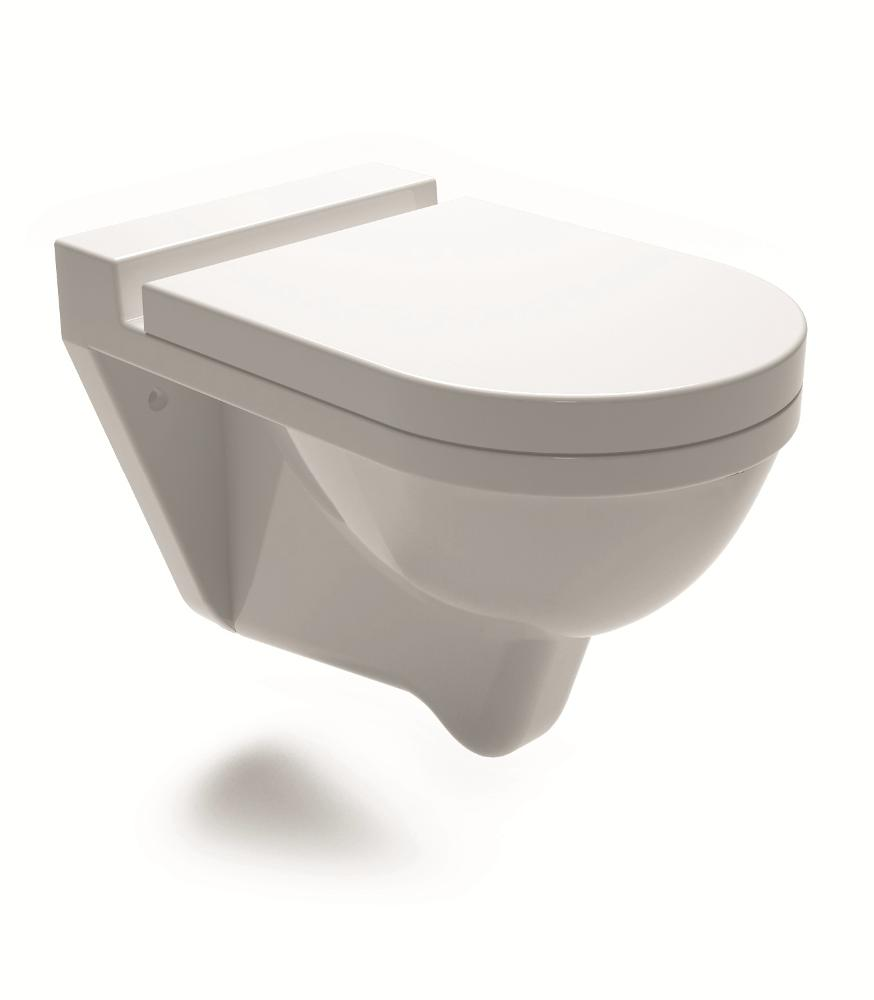 New Moon Wall Hung Toilet,Bravat, New Moon, Water Closets-W.C-Toilets ,Wall Hung Toilets
