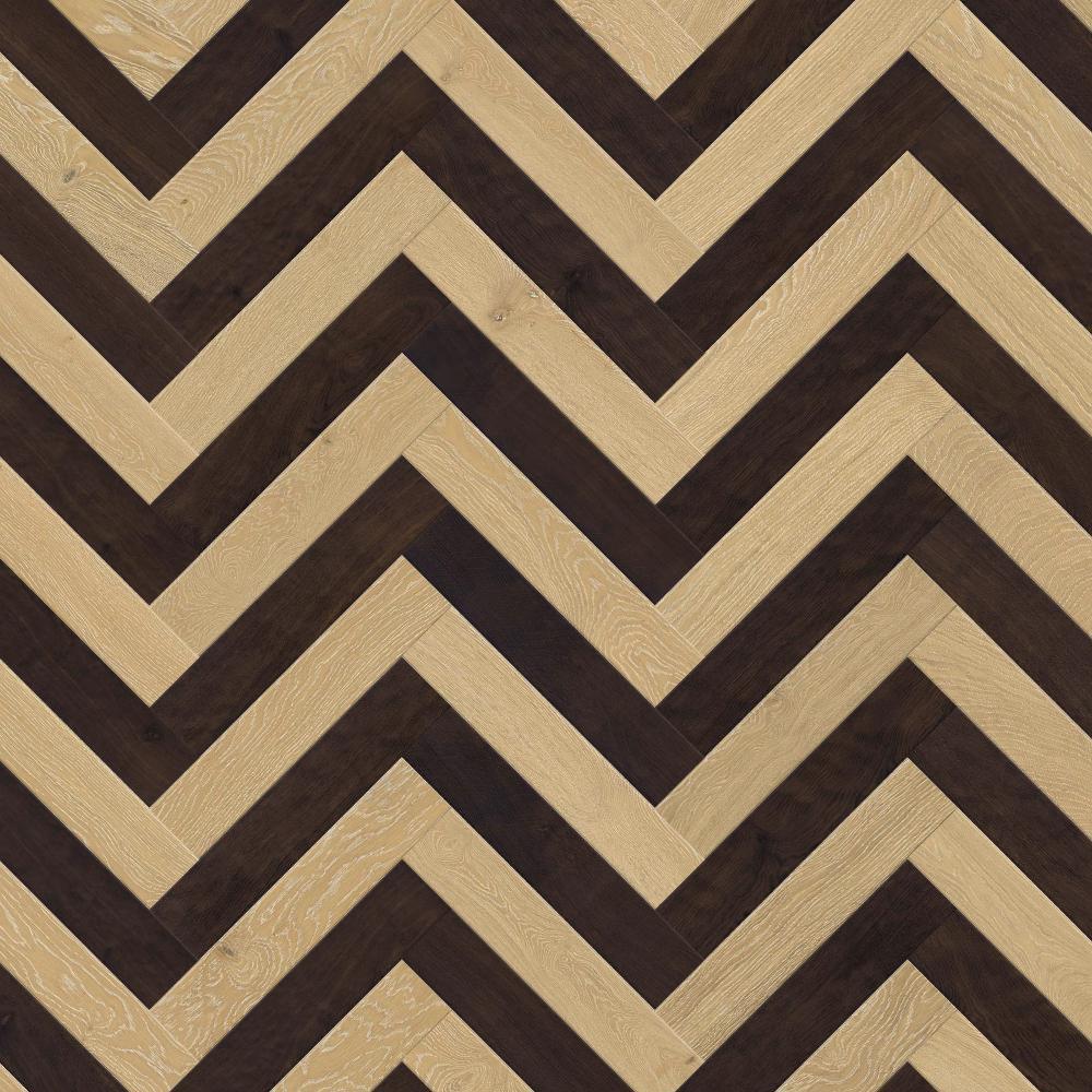 Oak Moonlight - Oak Fume - Pristine - Classic,Mikasa, Herringbone - Twine, Wooden Flooring ,Engineered Wood Flooring