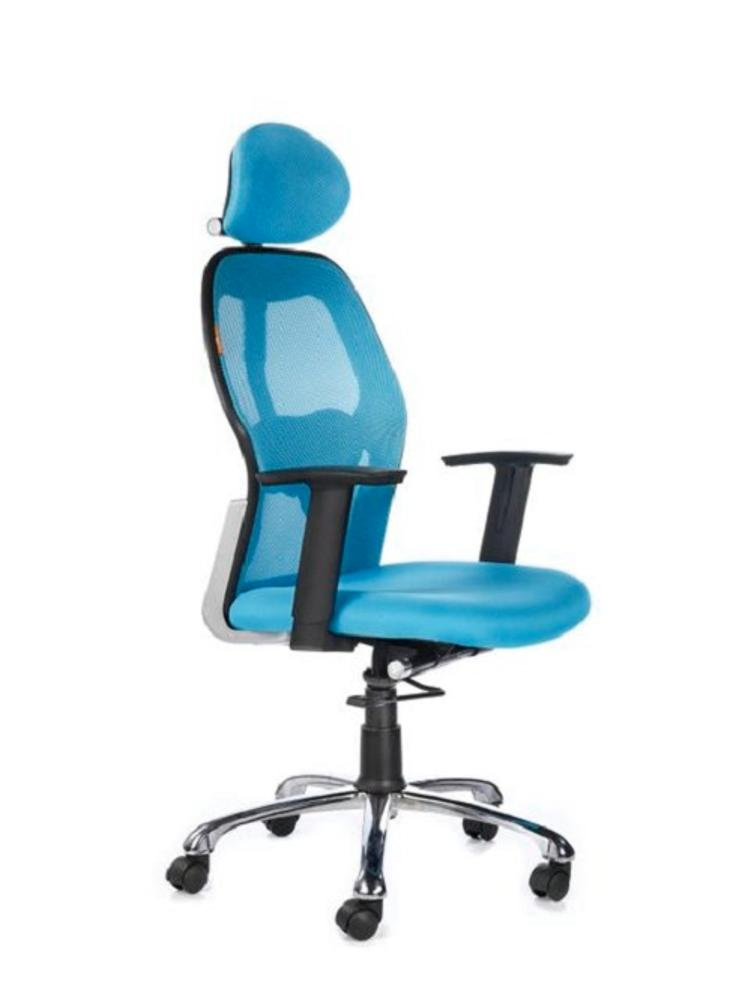 Kruz High Back Office Chair,Bluebell, Kruz, Chairs ,Revolving Chairs