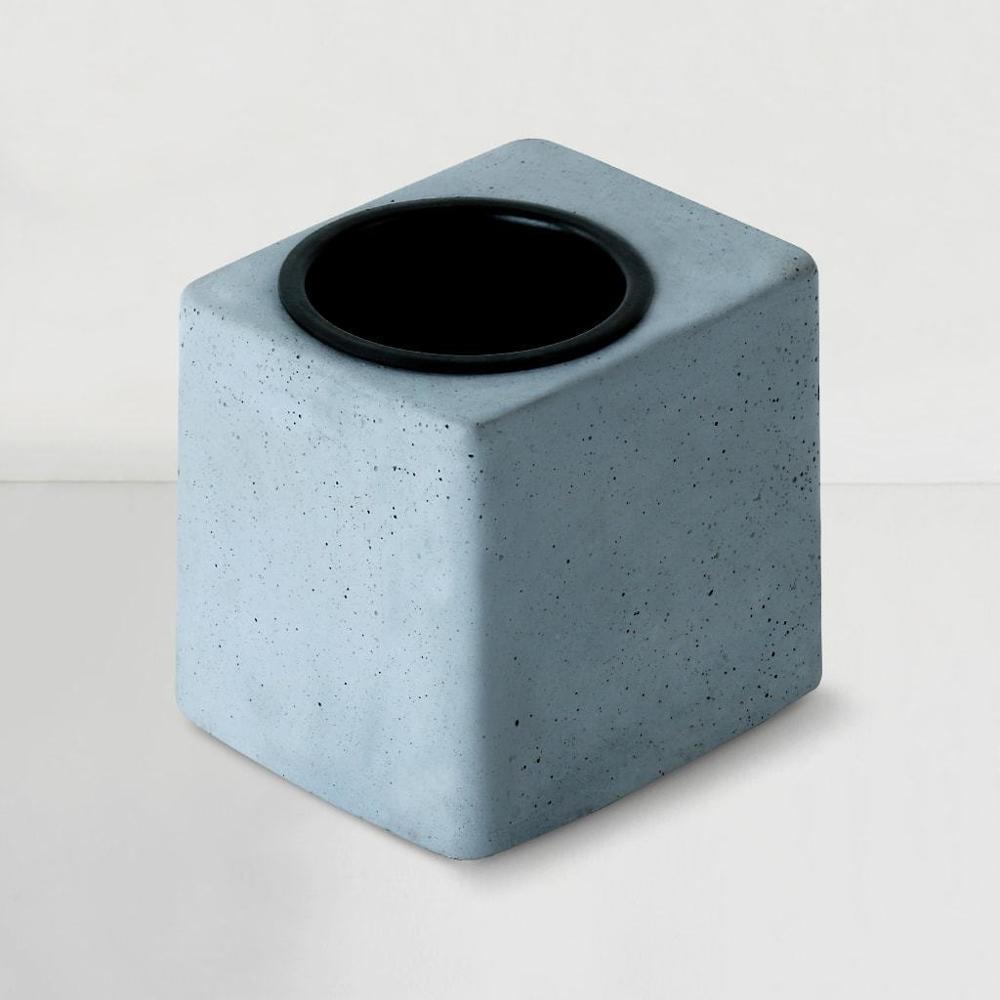 Concrete Greenin Black Metal Tumbler,Gomaads, Exterior Decor Elements ,Pots & Planters