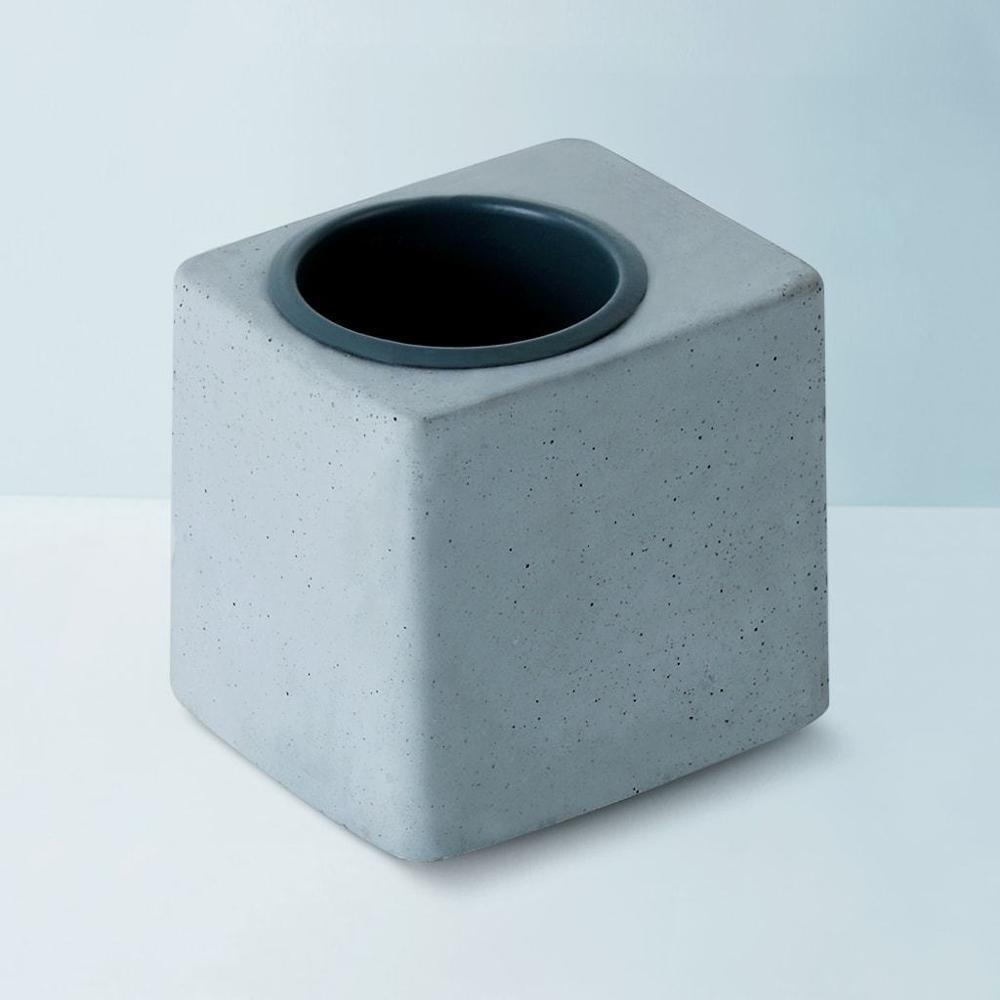 Concrete Greenin Grey Metal Tumbler,Gomaads, Exterior Decor Elements ,Pots & Planters