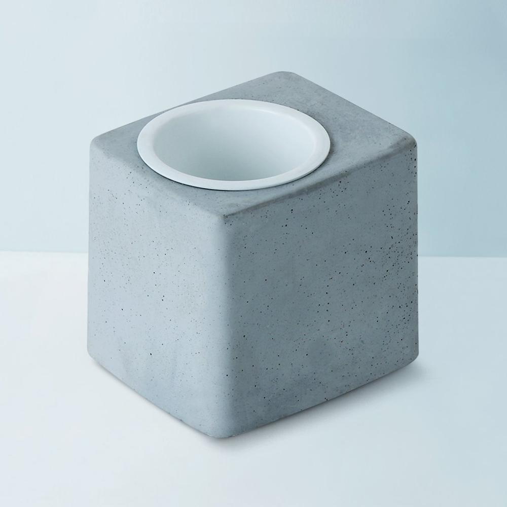 Concrete Greenin White Metal Tumbler,Gomaads, Exterior Decor Elements ,Pots & Planters
