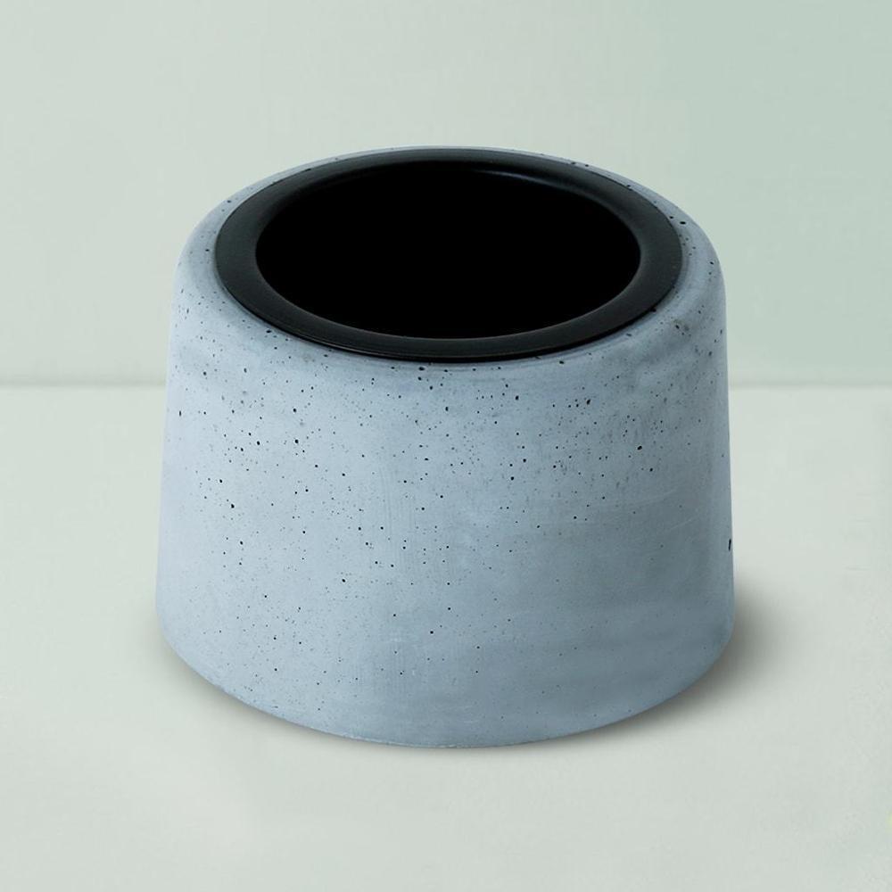 Concrete Round Black Metal Tumbler,Gomaads, Exterior Decor Elements ,Pots & Planters
