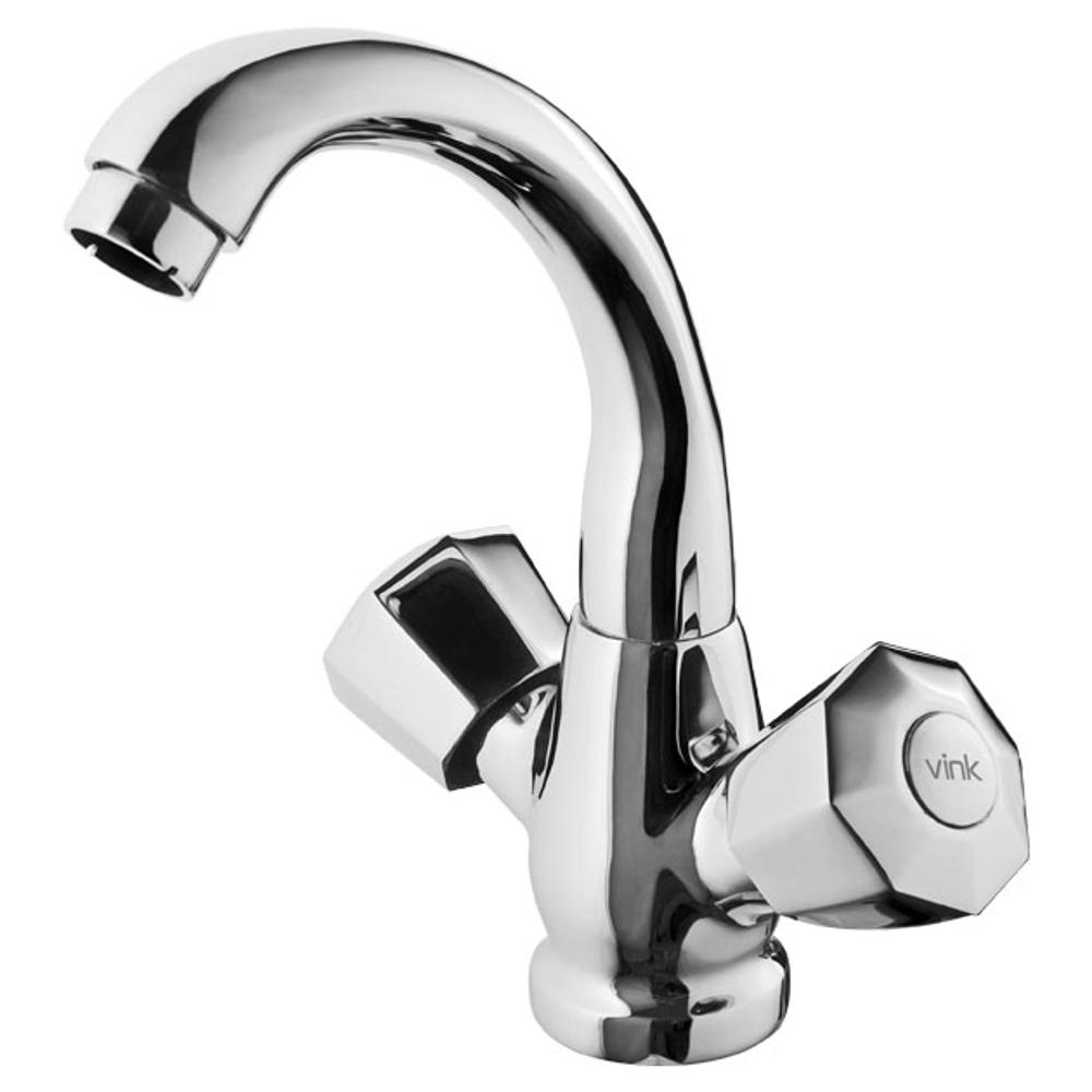 Center Hole basin Mixer W-o Pop Up,Vink, Prime – Drake, Faucets-Taps ,Basin Mixers