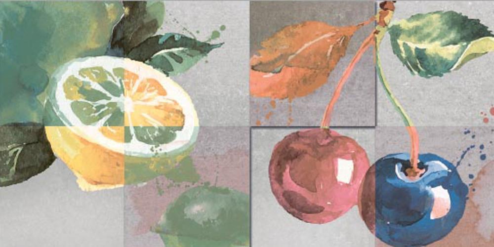 Lemon Kitchen Decor,Qutone, Wall, Tiles ,Ceramic Tiles