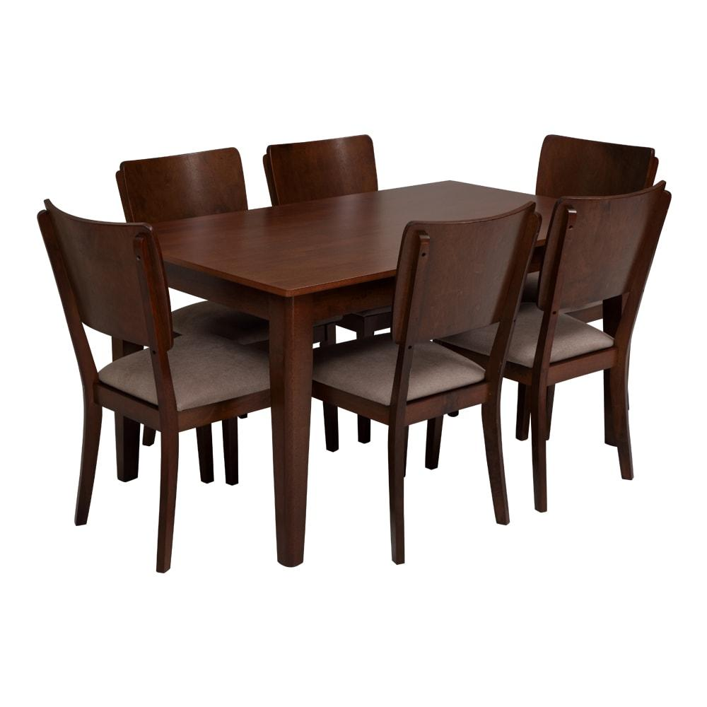 Sydney Engineerwood Dining Set 1-6-Walnut,Evok, Dining Sets