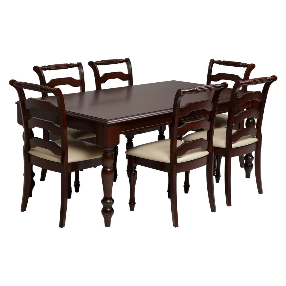 Turner Engineerwood Dining Set 1-6-Cappuccino,Evok, Dining Sets