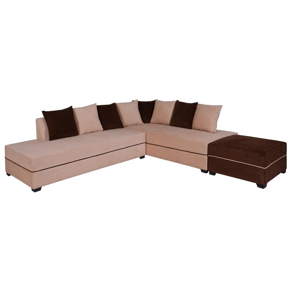 Apollo Sofa Right With Pouf,Evok, Sofas-Couches