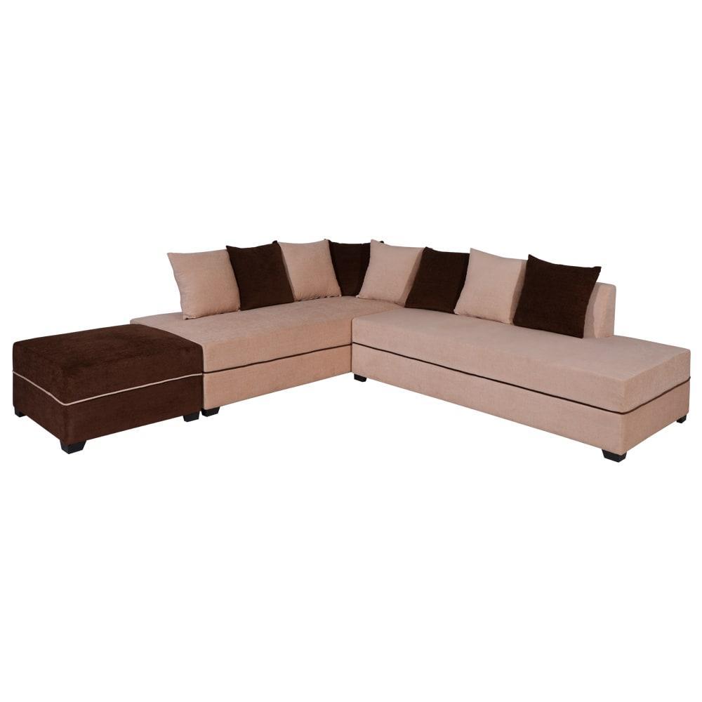 Apollo Sofa Left With Pouf,Evok, Sofas-Couches