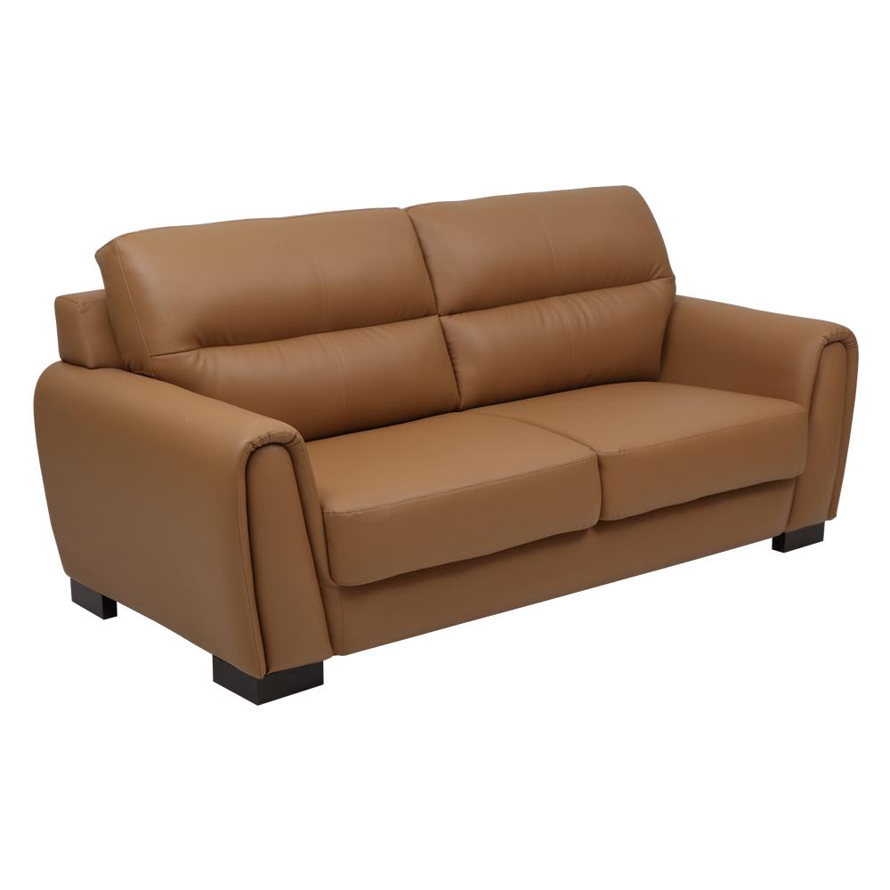 Webster Leatherette 3 Seater Sofa,Evok, Sofas-Couches ,Sectional Sofas