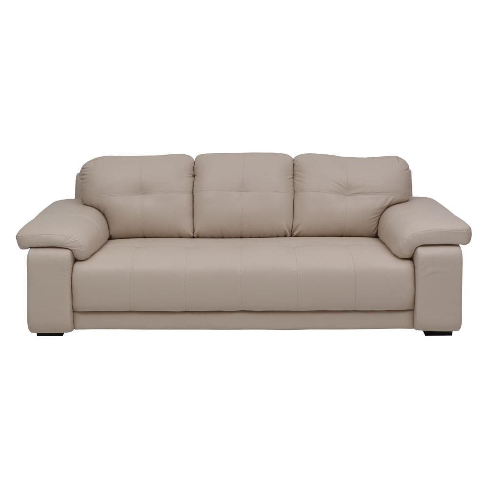 Marina New Leatherette 3 Seater Sofa-Beige,Evok, Sofas-Couches ,Sectional Sofas