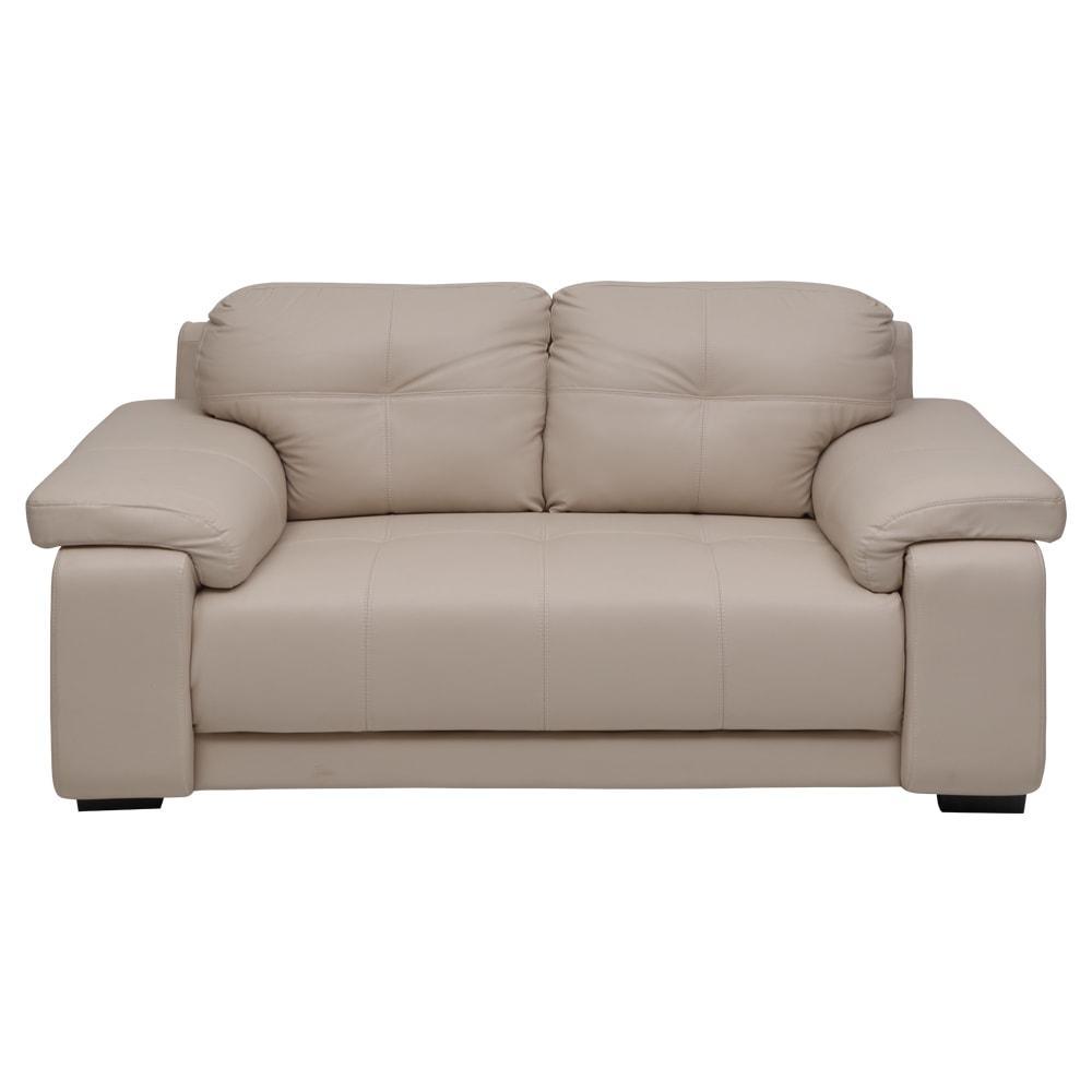 Marina New Leatherette 2 Seater Sofa-Beige,Evok, Sofas-Couches ,Sectional Sofas