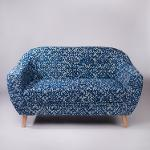 Ornate Patterned Dhurrie 2-Seater Loveseat,Sofas-Couches
